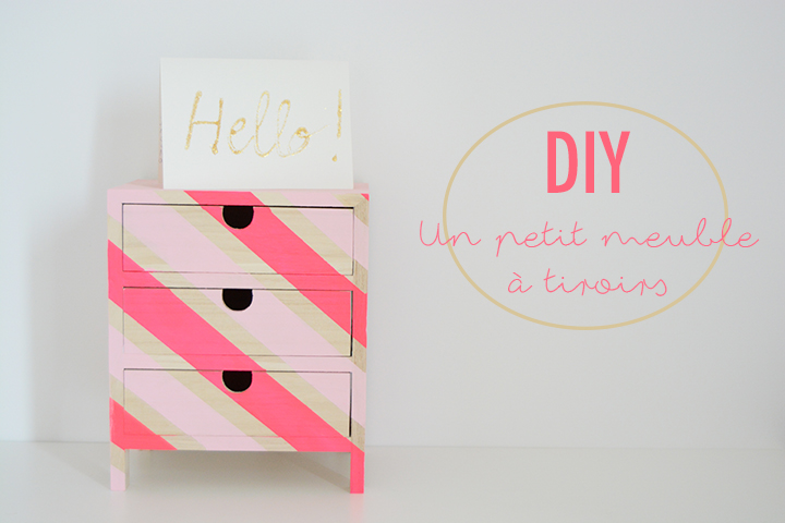 DIY customisation meuble rangement à tiroirs