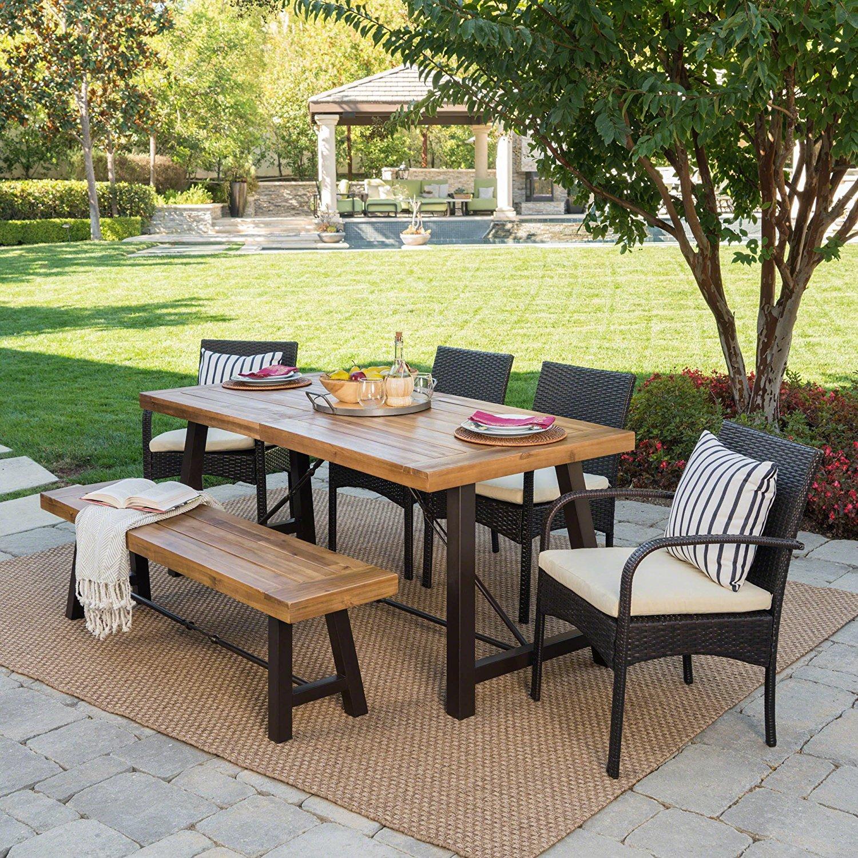 Luxury Furniture Review: Belham Outdoor 6 Piece Teak ...
