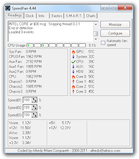 Download SpeedFan Monitoramento de temperatura PC.