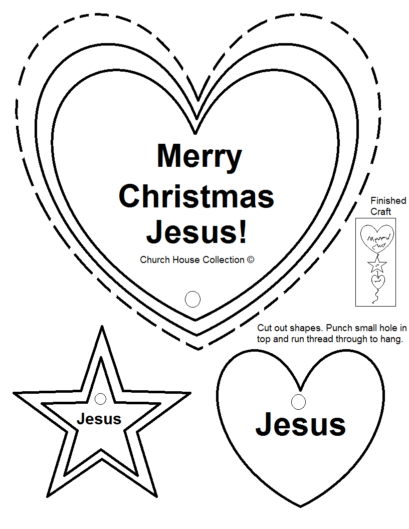 Merry Christmas Jesus Cut Out Crafts For Small Kids