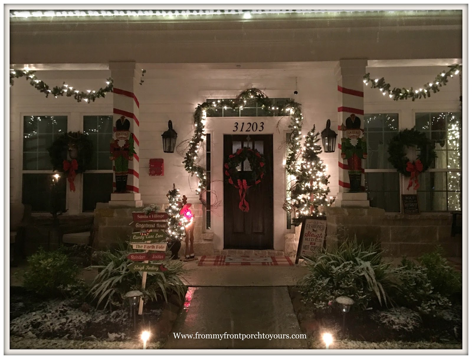 From My Front Porch To Yours Christmas Porch 2017 Decorations