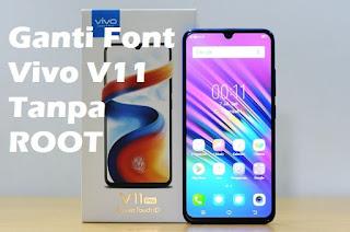 cara mengganti font Vivo V11