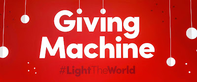 Giving Machine #LightTheWorld London Launch