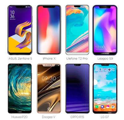 Inilah 7 Smartphone Android Desainnya Mirip Iphone X
