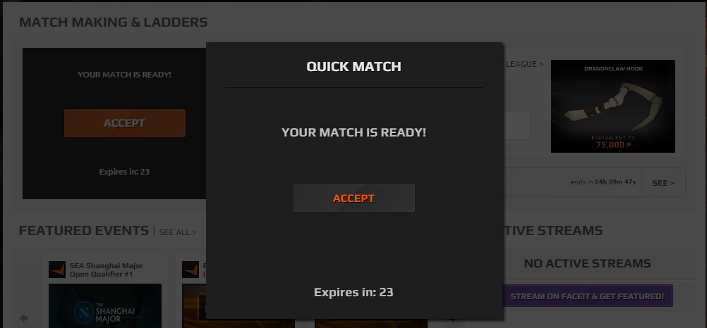 how to find a faceit game