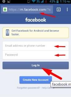 Mobil facebook login Login
