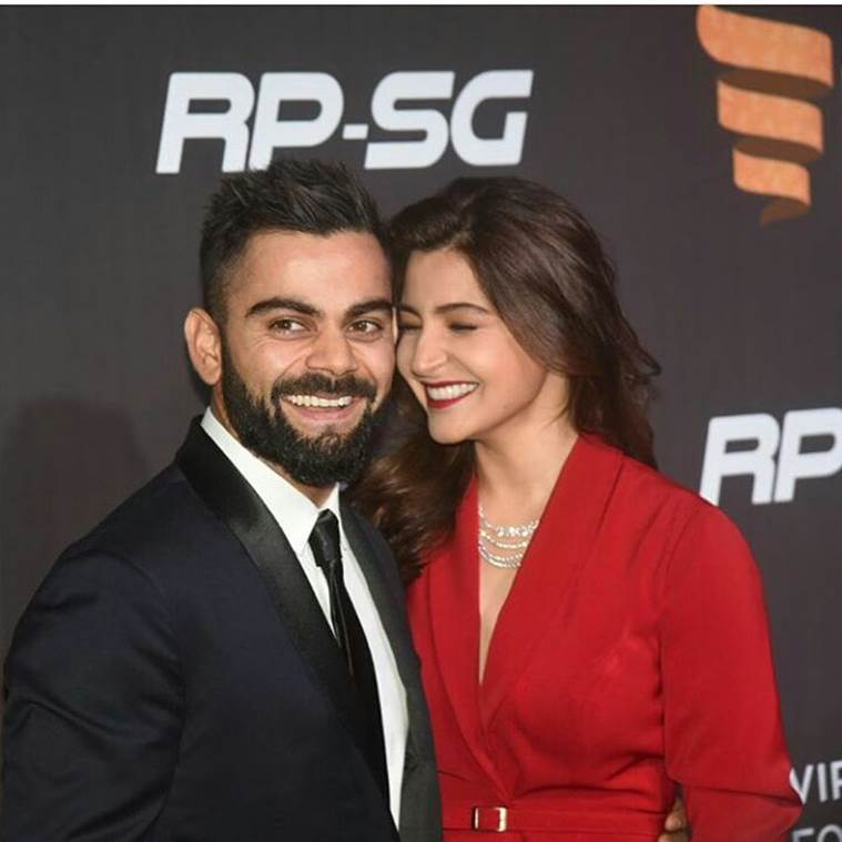 Photos of Virat Kohli, Anushka Sharma looking glamorous couple at maiden Indian Sports Honours red carpet