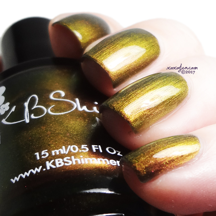 xoxoJen's swatch of KBShimmer Puns And Roses
