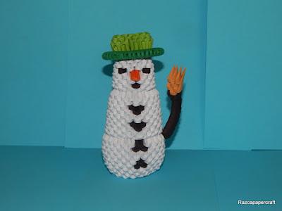 3D origami Snowman