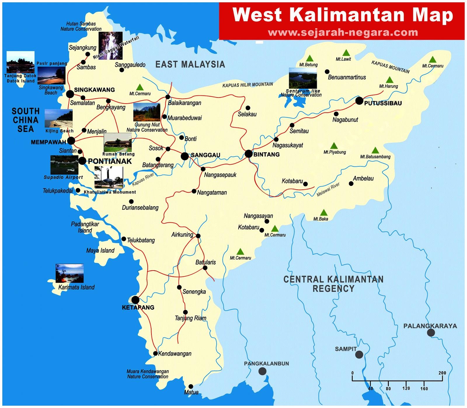 image: Map of West Kalimantan