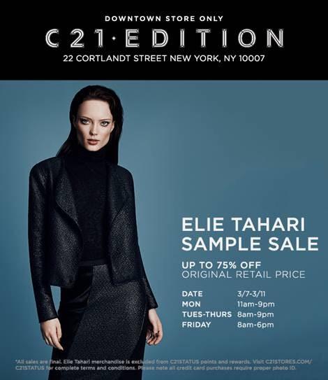 Elie Tahari Sample Sale Starts On Monday   Practically Haute