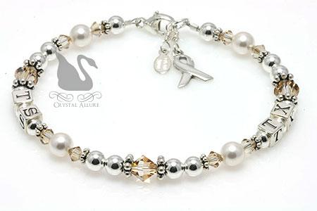 Amanda's Custom Childhood Cancer Awareness Bracelet (B196-CC)