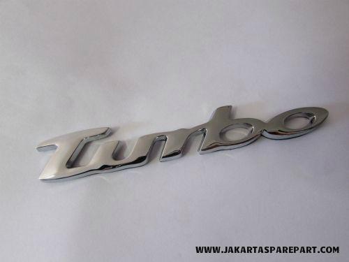 Emblem Tulisan Turbo Chrome