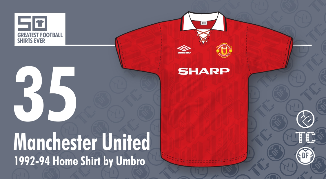 16d508594 50GFSE] #35 - Manchester United 1992-94 Home by Umbro ~ The Football ...