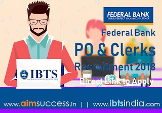 Federal Bank PO and Clerks Recruitment 2018: Direct Link to Apply