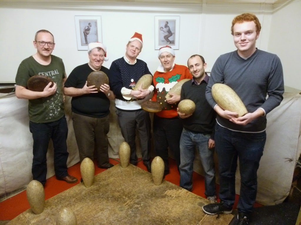 This year's losers and runners-up, Team Frugal. From l-r Paul O'Connor, Chris Jones, Brad Shepherd, Trevor 'Lord of Smeeth' Robertson, Richard Linden, Seth Thomas at the Hampstead Lawn Billiard and Skittle Club
