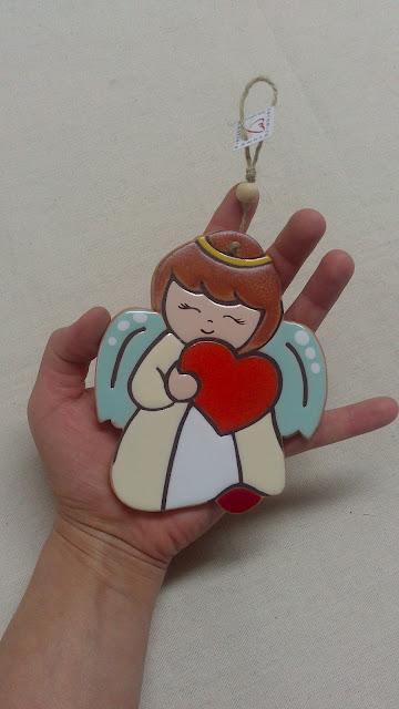 Ceramica come mestiere angeli in ceramica da appendere for Oggetti da appendere