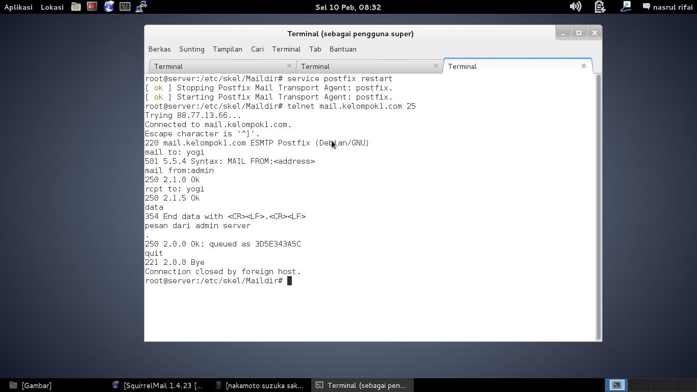 Instalasi dan Konfigurasi Mail Server Linux Debian 7
