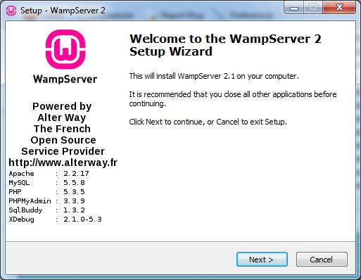 wampserver 2.4 32 bits gratuit