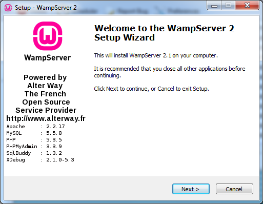 wampserver 2.4 32 bits windows 7