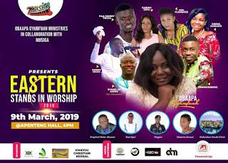 "Evangelist IK Anin, Sabina Sefa, Frankiesberg, Kobby Isaac And others To headline the Maiden Edition of ""Eastern Stand In Worship"" With Obaapa Gyamfuah"