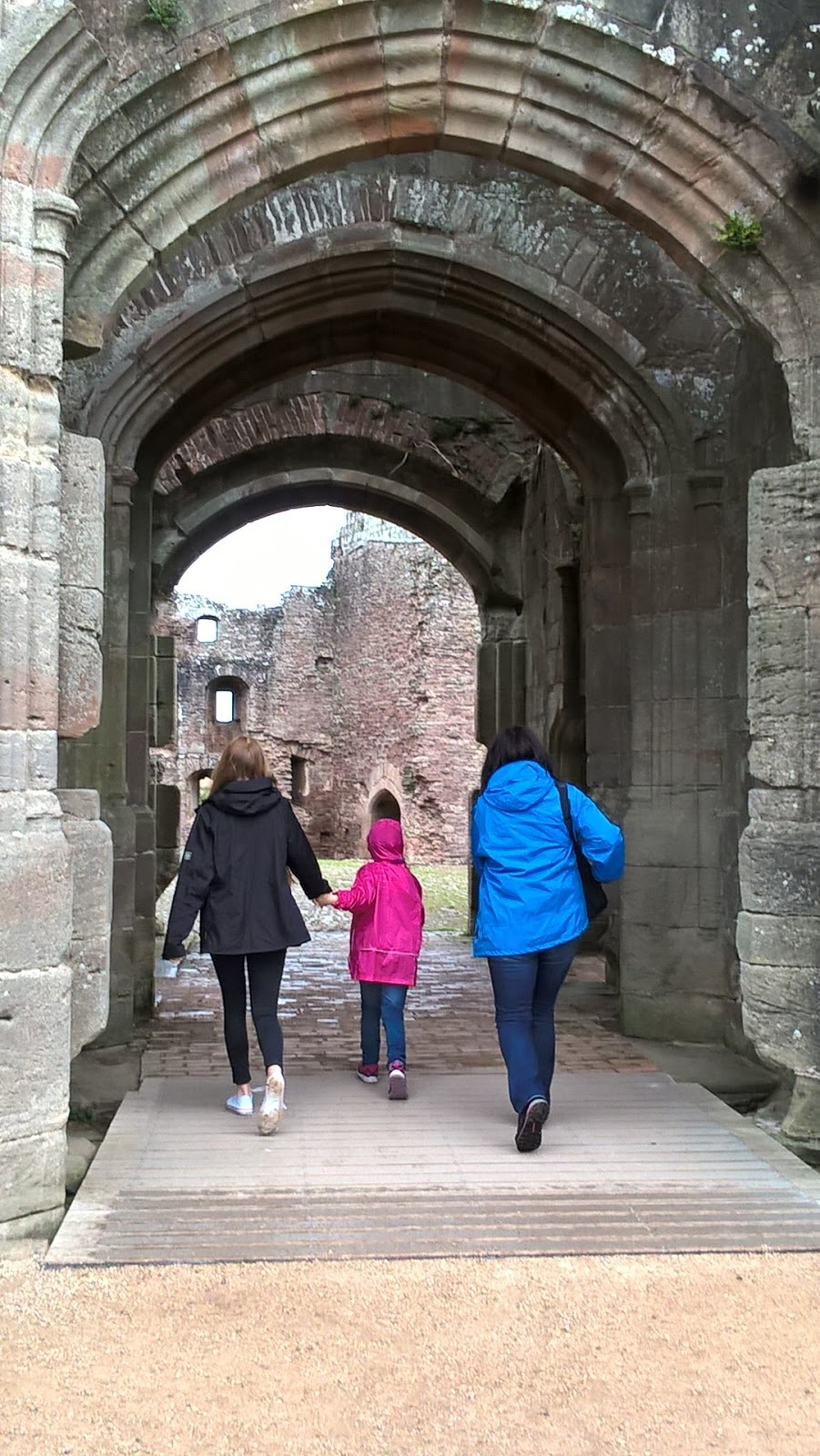Entering Raglan Castle