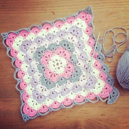Shell Stitch Baby Blanket Yarn Crochet