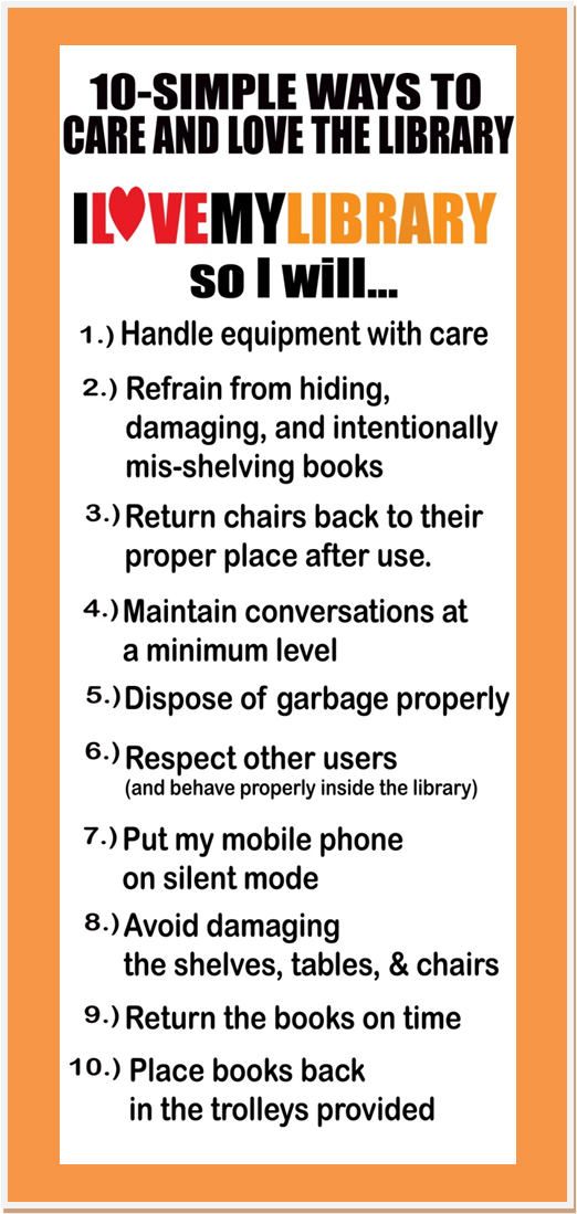 Rules For A Girls Bedroom: The Juan Sumulong High School E-Library: Library Rules