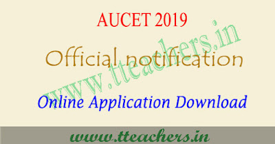 AUCET 2019 notification , eligibility, online apply, exam date au pgcet