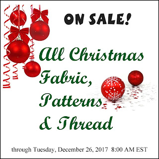 Crazy Quilt Girl Fabric Shop Christmas Sale!