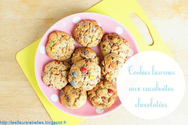 Cookies aux éclats de cacahuètes chocolatées