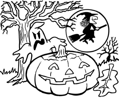 halloween spider coloring pages - free halloween coloring pages february 2009