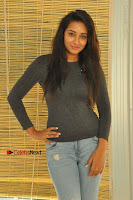 Actress Bhanu Tripathri Pos in Ripped Jeans at Iddari Madhya 18 Movie Pressmeet  0020.JPG