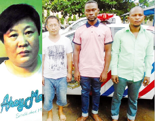 Like Ghana's, FAKE Embassy In Lagos, 2 Chinese, 2 Nigerians ARRESTED; See Photos