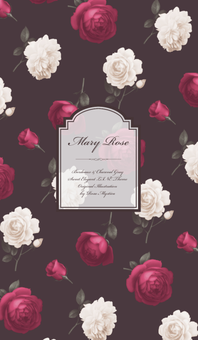 Mary Rose - Bordeaux & Charcoal Gray