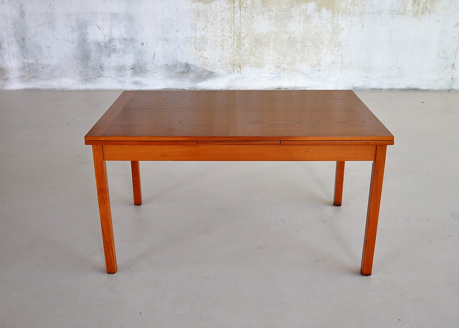 Table With Slide Out Leaves Select Modern Danish Modern Teak Expandable Dining Room Table