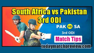 Today 3rd ODI Match Prediction South Africa vs Pakistan Dream 11 Team