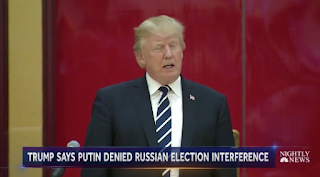 Trump says Putin Denies Election Meddling