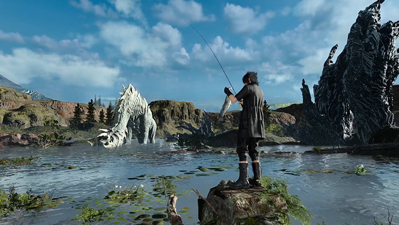 New games monster of the deep final fantasy xv for Ffxv fishing rods