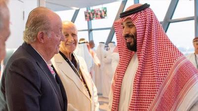 En plena polémica, rey Juan Carlos se fotografía con Bin Salman