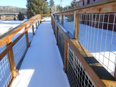spiritual path, walkway, snow, railings, finding spiritual community,
