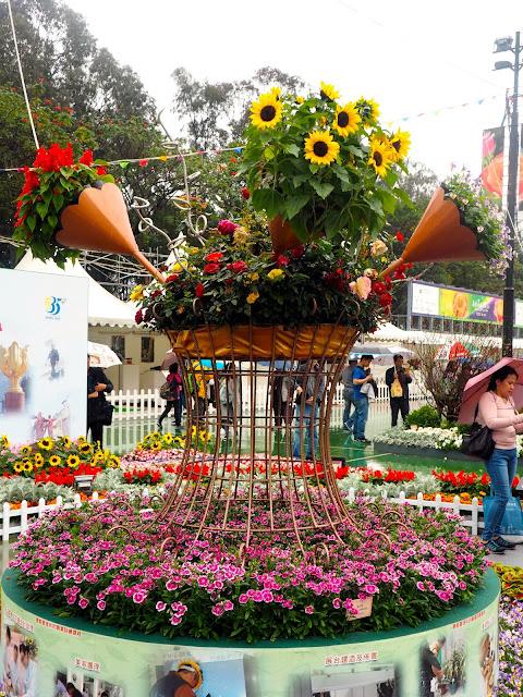 Floral display at Hong Kong Flower Festival 2017