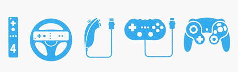 Wii indictation of game controllers.