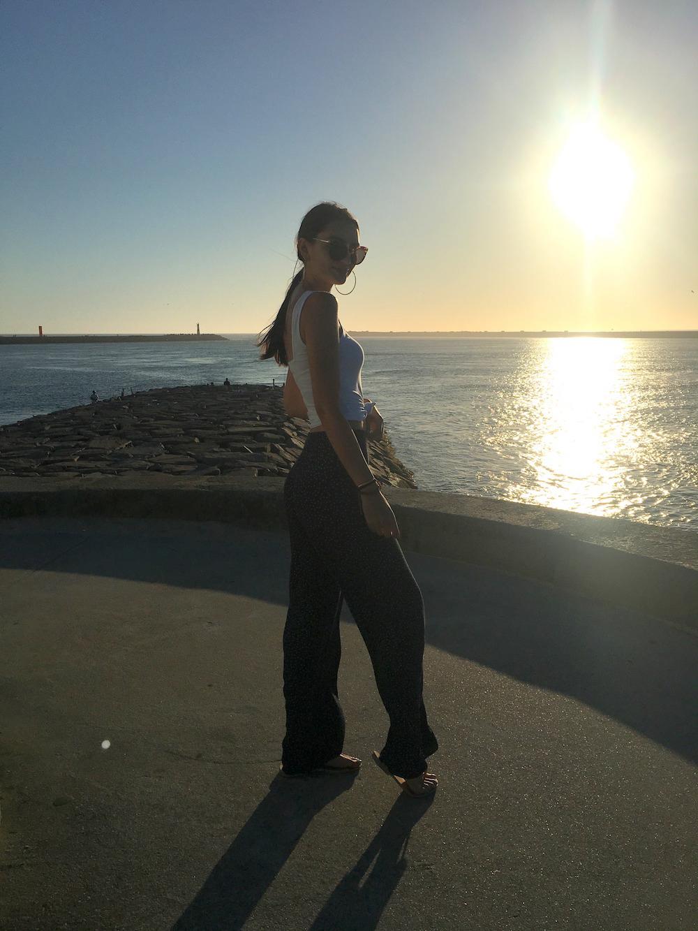 sunset portugal aveiro beach