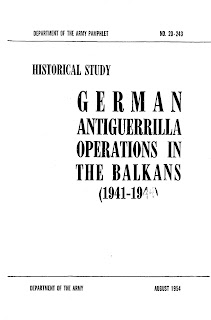 German Antiguerrilla Operations in the Balkans (1941-1944)