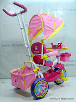 4 GoldBaby Pororo Winch Baby Tricycle in Pink