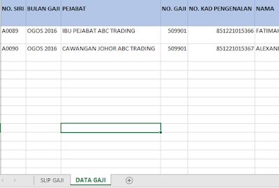 Database Sistem Slip Gaji Malaysia V1.00