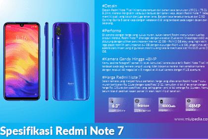 Review Spesifikasi dan Harga Redmi Note 7 dengan Fitur Kamera 48 MP