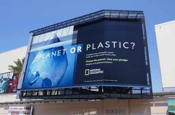 Planet or Plastic National Geographic billboard