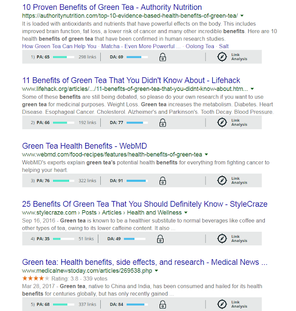 Search Engine Result Page Example